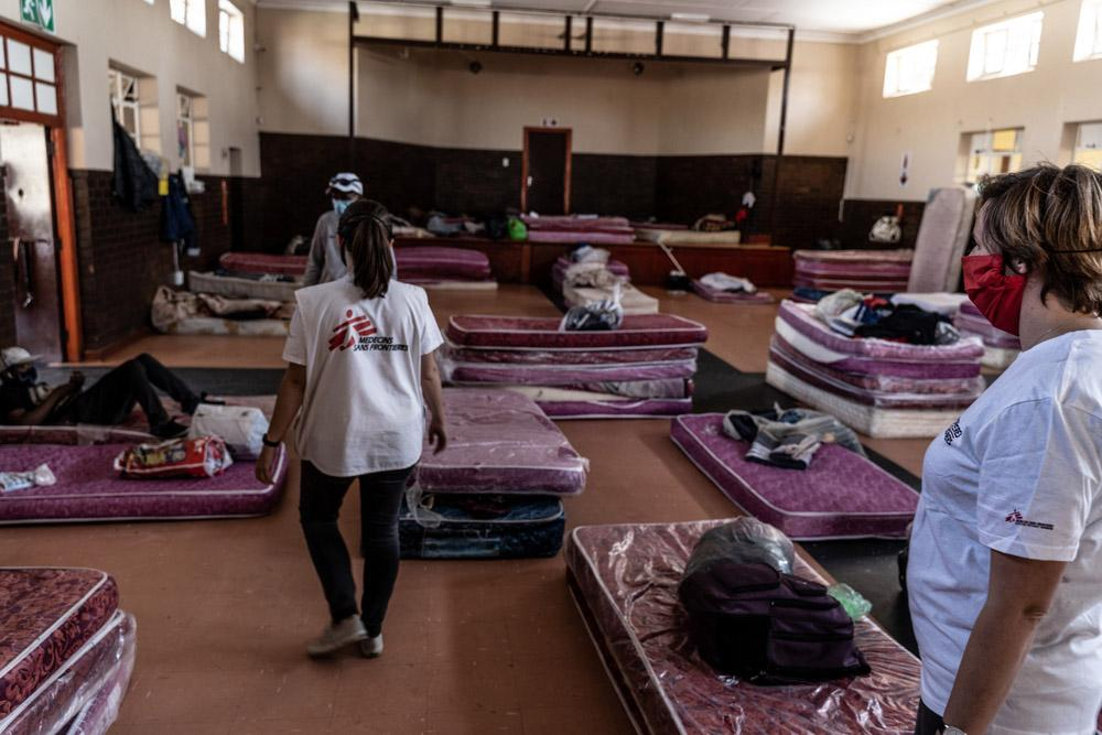 MSF Staff assessing Johannesburg Shelters