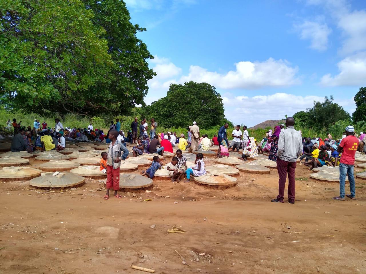 displaced people's camp, Mozambique