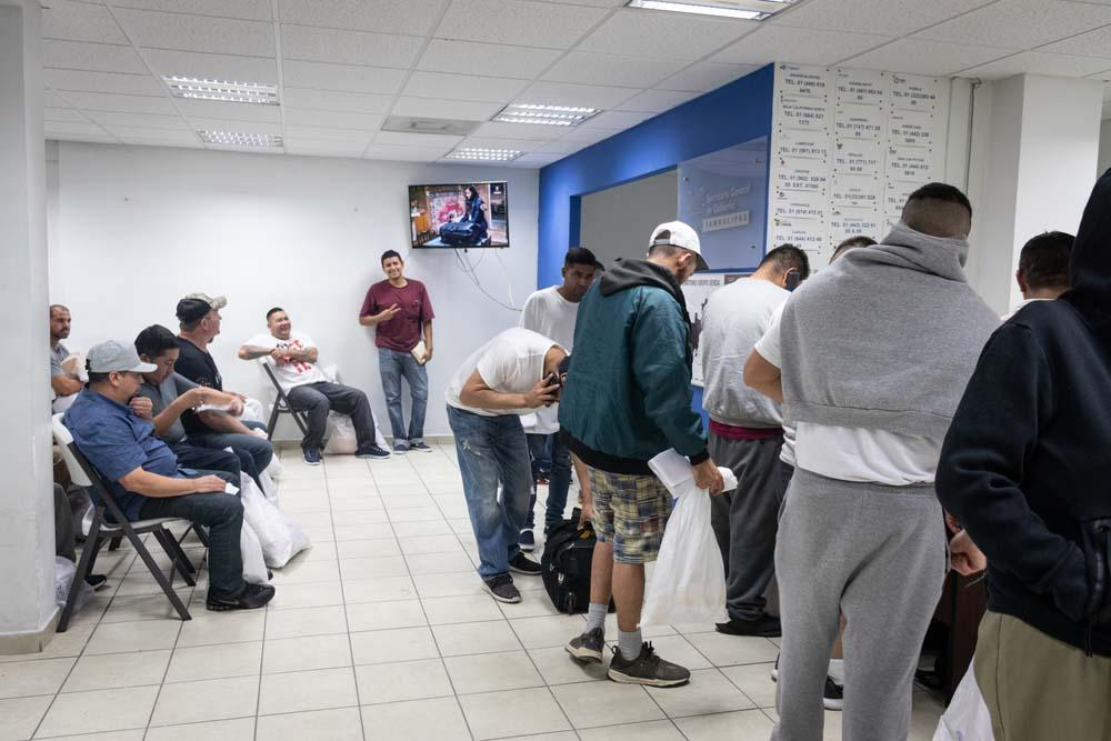 A picture of migrants awaiting treatment in Reynosa , Mexico