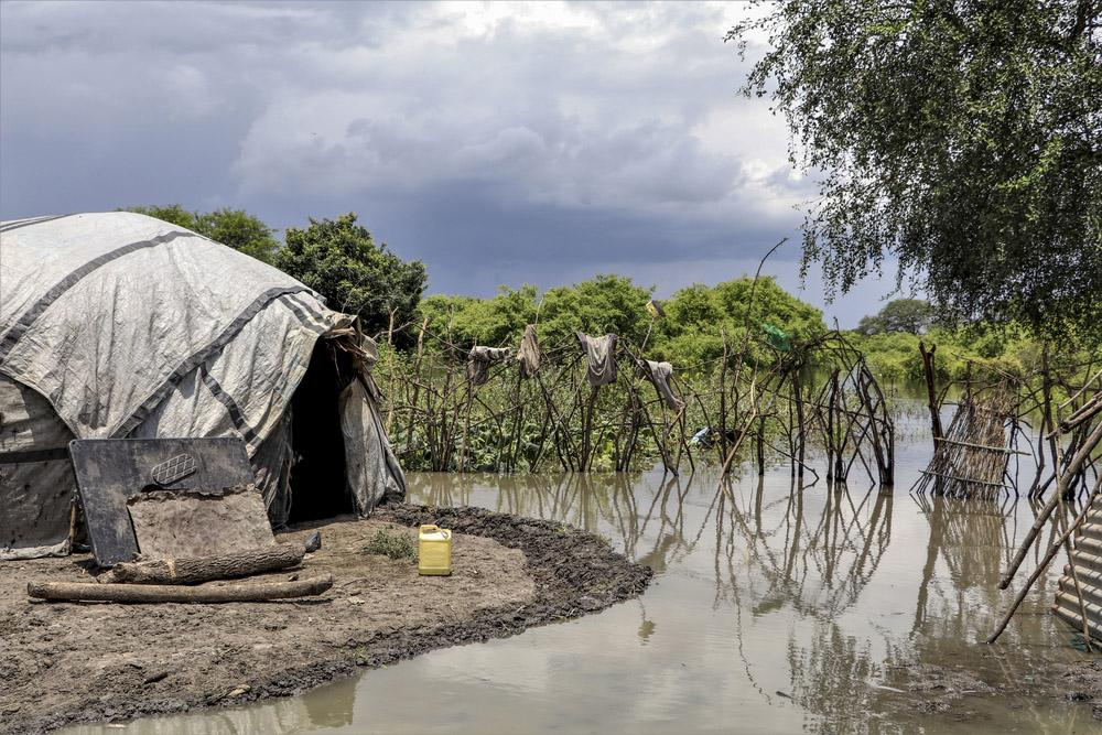 Flooded area in Pibor
