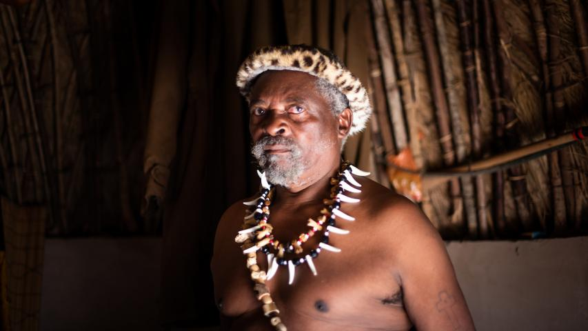 Induna and traditional healer