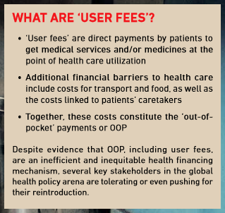 what are user fees?