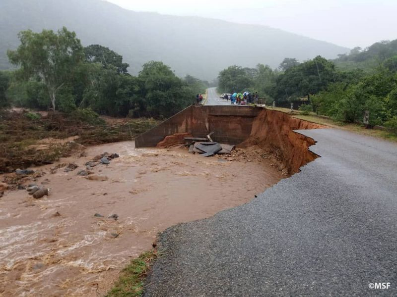 Roads destroyed by cyclone idai, Chimanimani, Mzimbabwe
